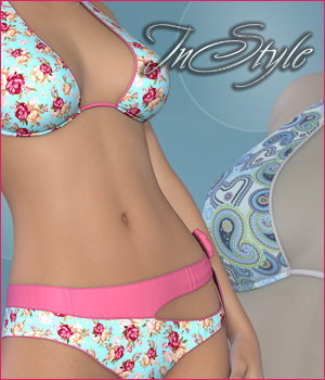 InStyle - Thrill Bikini for G2F 3D Figure Assets -Valkyrie-