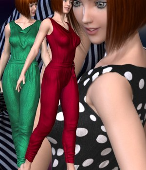 Party Jumpsuit for Genesis 2 Female(s) 3D Figure Essentials RainbowLight