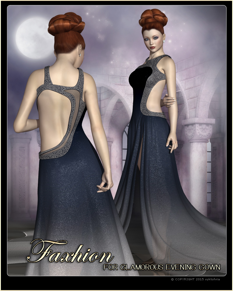 Faxhion - Glamorous Evening Gown by vyktohria
