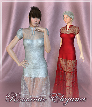 Romantic Elegance Dynamic V4/V6/Dawn 3D Figure Assets Frequency