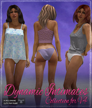 Dynamic Intimates Collection 3D Figure Assets ShaaraMuse3D
