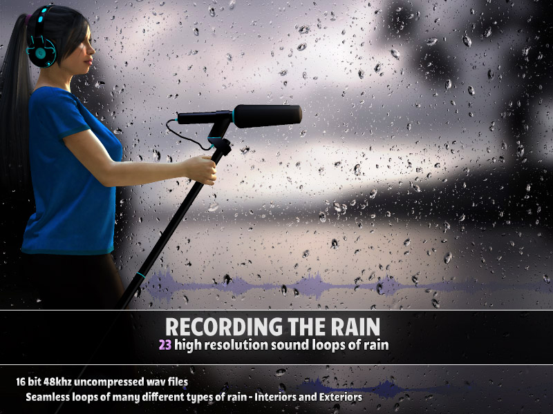 Recording the Rain by ShaaraMuse3D