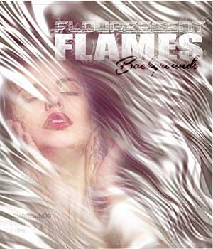 Fluorescent Flames Backgrounds 2D Graphics RajRaja