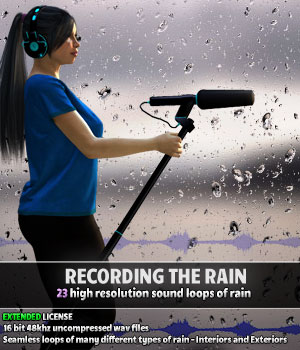 Recording the Rain - Extended License Merchant Resources Gaming ShaaraMuse3D