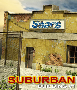 Suburban-Building 1 3D Models powerage