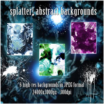 Splatter! Abstract Backgrounds image 1