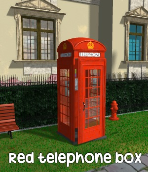 Red Telephone Box 3D Models greenpots
