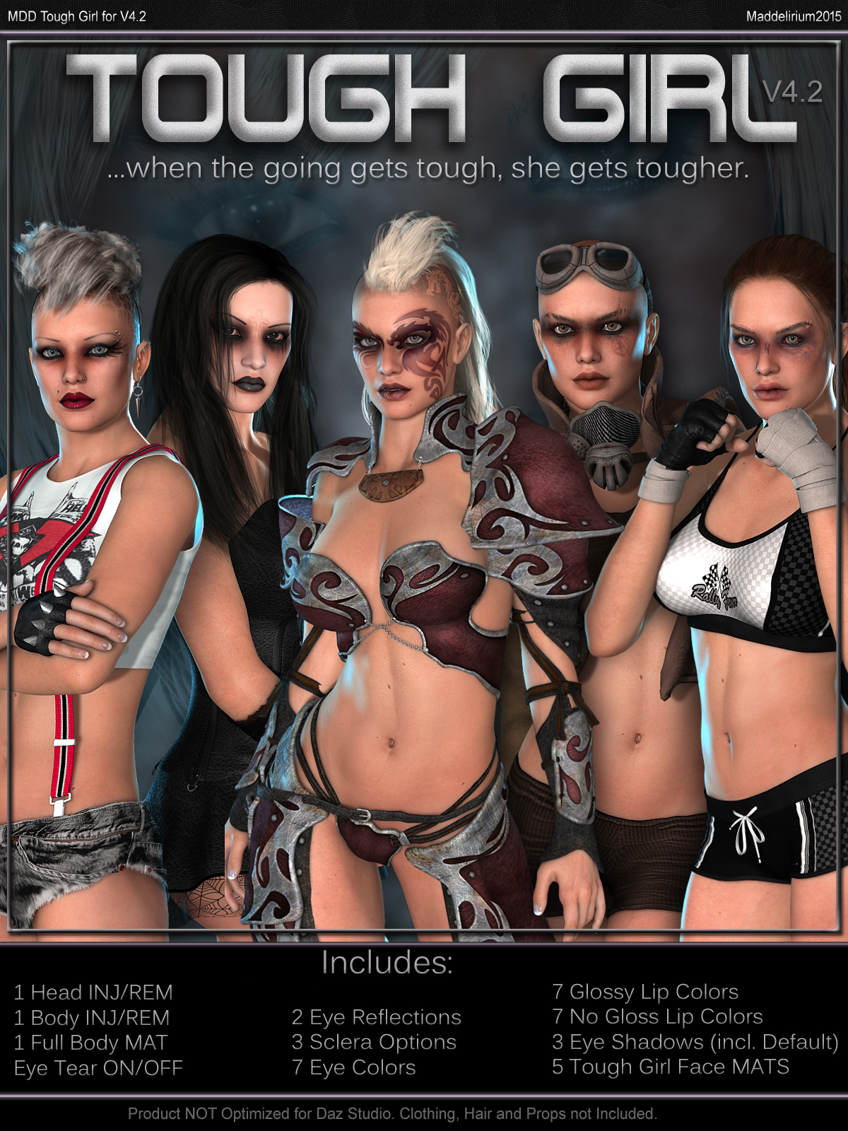 MDD Tough Girl for V4.2 by Maddelirium