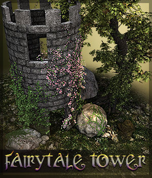 SVLL Fairytale Tower 3D Figure Assets 3D Models Sveva