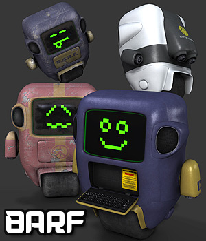BARF the Robot 3D Figure Essentials 3D Models coflek-gnorg