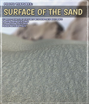Photo Textures: Surface of the Sand 2D Graphics ShaaraMuse3D