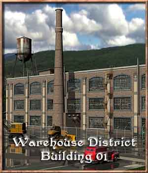 Warehouse District, Building One 3D Models DreamlandModels