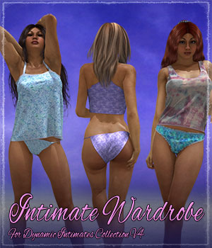 Intimate Wardrobe for Dynamic Intimates Collection 3D Figure Assets ShaaraMuse3D