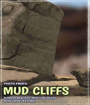 Photo Props: Mudcliffs 3D Models ShaaraMuse3D