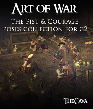 Art of War - The Fist & Courage Poses for Genesis2 3D Figure Assets TheCava
