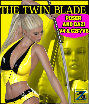 Z The Twin Blade - V4-G2F/V6 3D Figure Assets 3D Models Zeddicuss