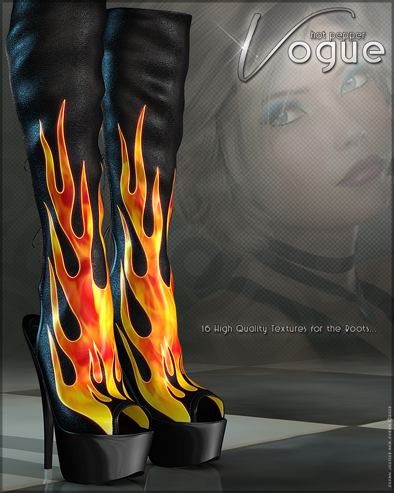 Vogue for Hot Pepper Boots by Sveva