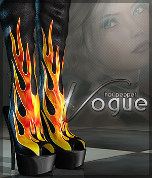 Vogue for Hot Pepper Boots 3D Figure Assets Sveva