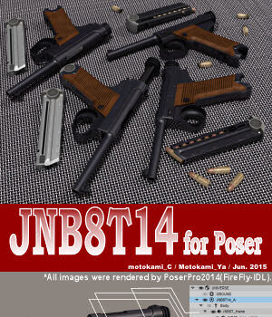 JNB8T14 for Poser 3D Models motokamishii