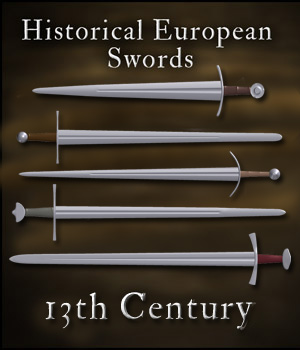 Historical European Swords: 13th Century - Extended License 3D Models Gaming gmm2