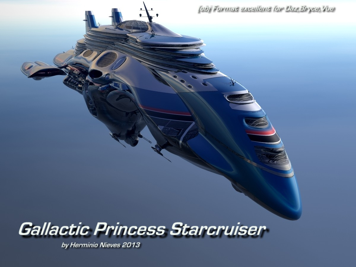 Gallactic Princess Starcruiser by sevein