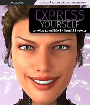 G3F - Express Yourself 3D Figure Essentials Balivandi