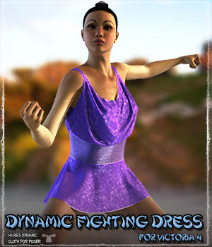 Dynamic Fighting Dress 3D Figure Assets ShaaraMuse3D