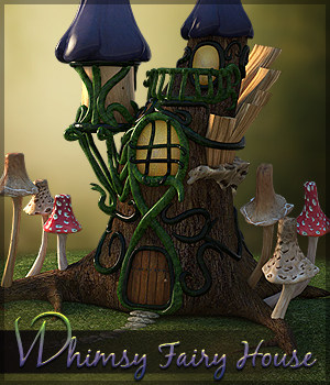 Whimsy Fairy House 3D Models Sveva
