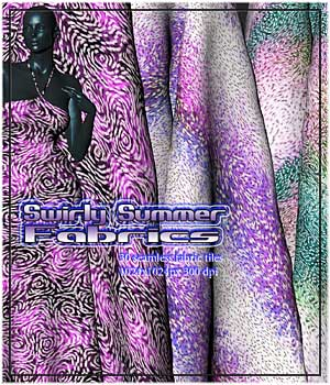 Swirly Summer Fabrics 2D Graphics RajRaja