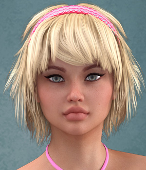 Minta Hair for V4 and G2 3D Figure Essentials SWAM