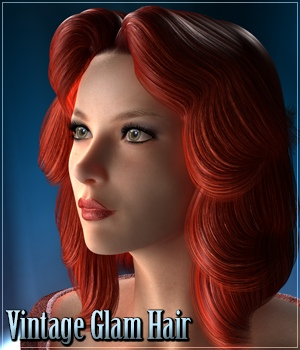 Vintage Glam Hair 3D Figure Assets 3Dream