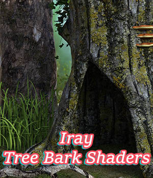 Iray Tree Bark Shaders 3D Figure Essentials fictionalbookshelf
