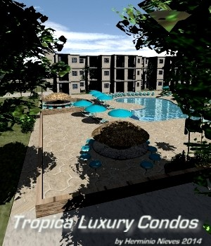 Tropical Luxury Condos 3D Models sevein