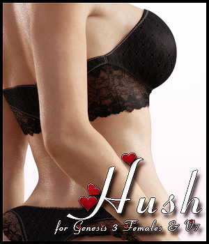 Hush For G3F & V7 by -dragonfly3d-