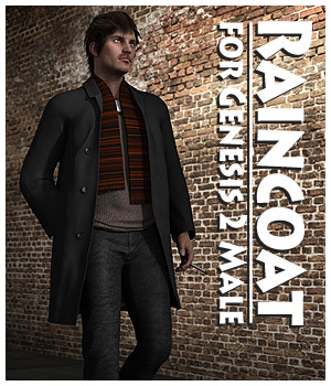 Raincoat for Genesis 2 Male 3D Figure Essentials CaymanStudios