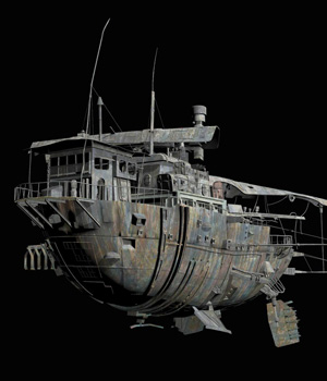 MS15 Rusted Space Tug 3D Models London224