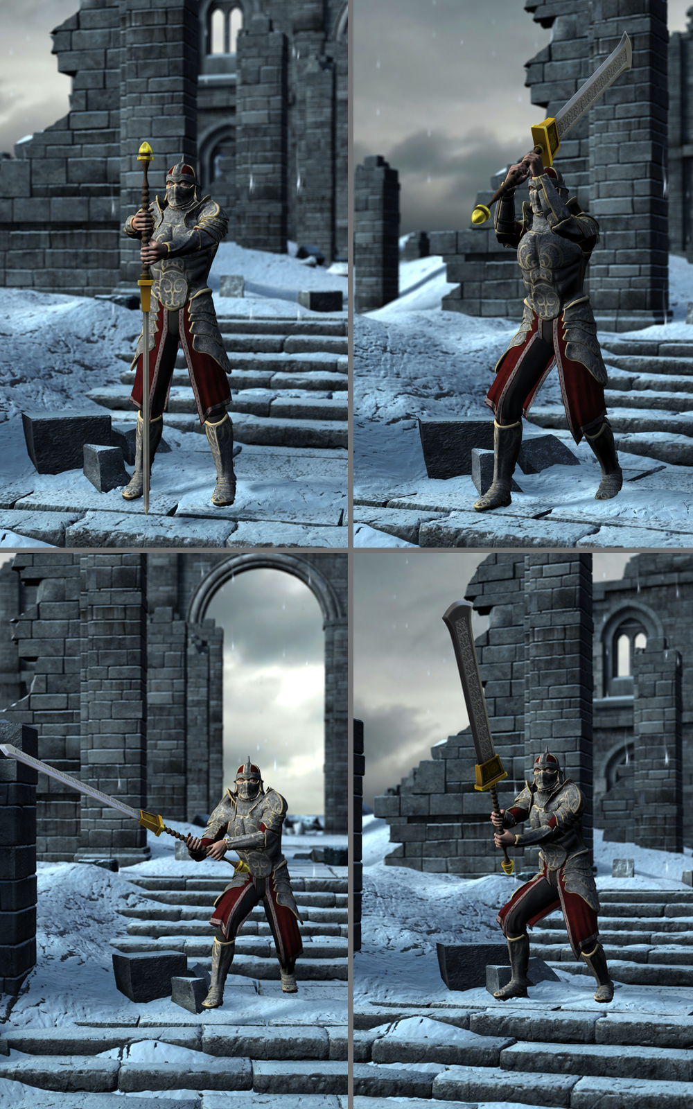 Greatsword Poses For G2 3d Figure Assets Thecava