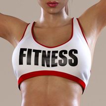 Workout Outfit for Genesis 3 Female(s) / V7 image 3