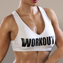 Workout Outfit for Genesis 3 Female(s) / V7 image 5