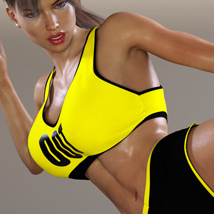 Workout Outfit for Genesis 3 Female(s) / V7 image 7