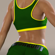Workout Outfit for Genesis 3 Female(s) / V7 image 8