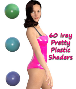 Iray Pretty Plastic Shaders 3D Figure Essentials Software fictionalbookshelf