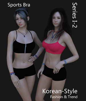 Korean-Style Fashion I-2 - Sports Bra 3D Figure Assets SikeiJau