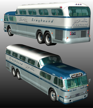 SCENICRUISER 1954 ( POSER & .OBJ ) 3D Models Nationale7