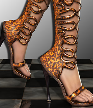 NYC Collection: High Heel Swirly for Scarlet 3D Figure Essentials 3DSublimeProductions