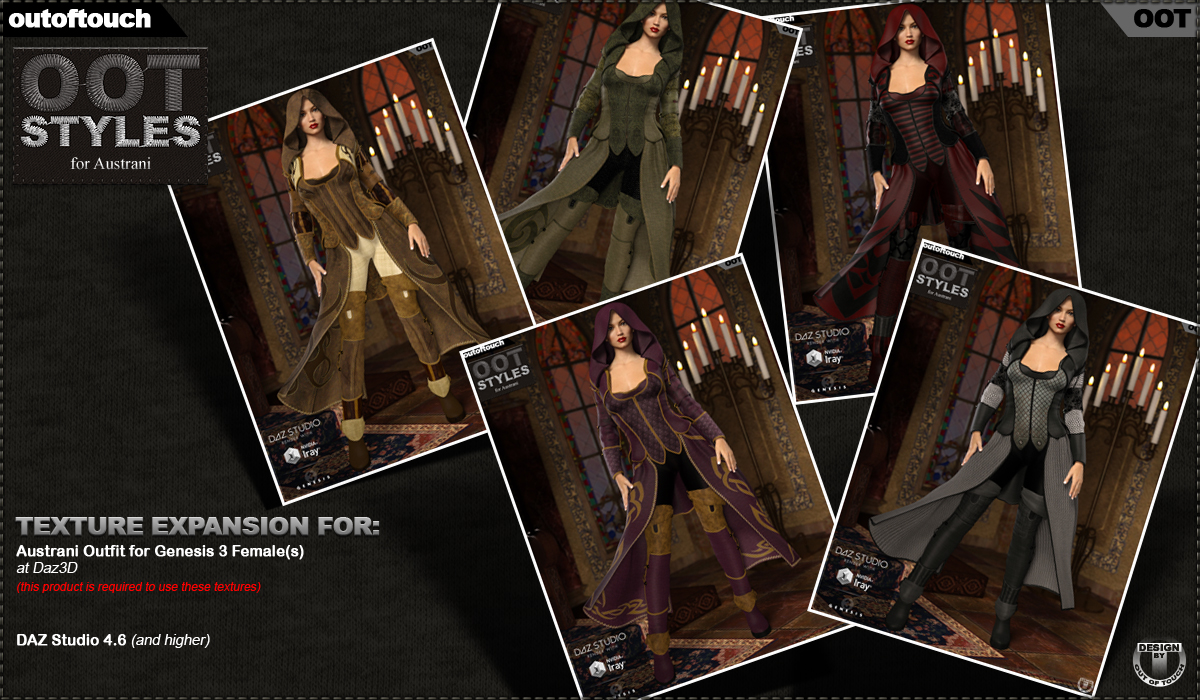 OOT Styles for Austrani Outfit for Genesis 3 Female(s)byoutoftouch()