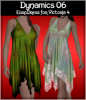 Dynamics 06 - EuroDress for Victoria 4 3D Figure Assets Lully