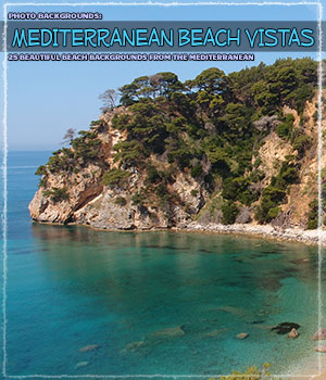 Photo Backgrounds: Mediterranean Beach Vistas 2D Graphics ShaaraMuse3D