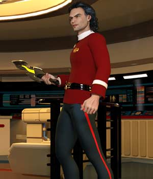 Space Fleet Uniform (M4) (for Poser) 3D Figure Assets Legacy Discounted Content VanishingPoint