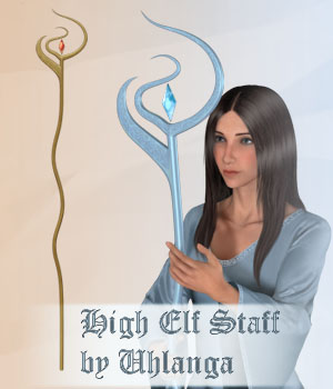 High Elf Staff 3D Models TMDesign